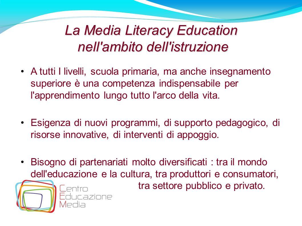 La Media Literacy Education nell ambito dell istruzione