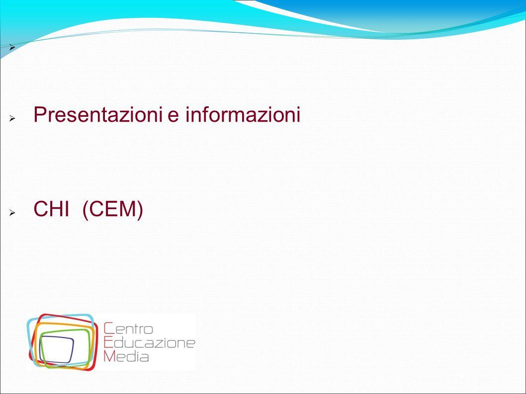 Presentazioni e informazioni