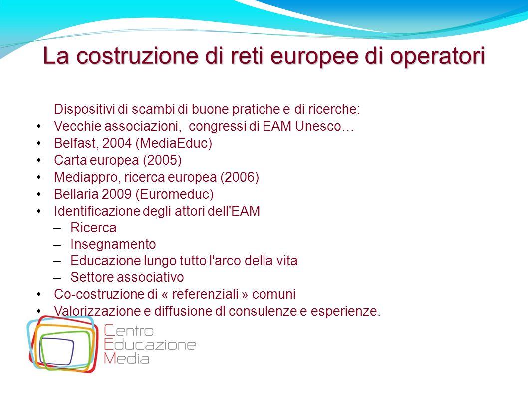 La costruzione di reti europee di operatori