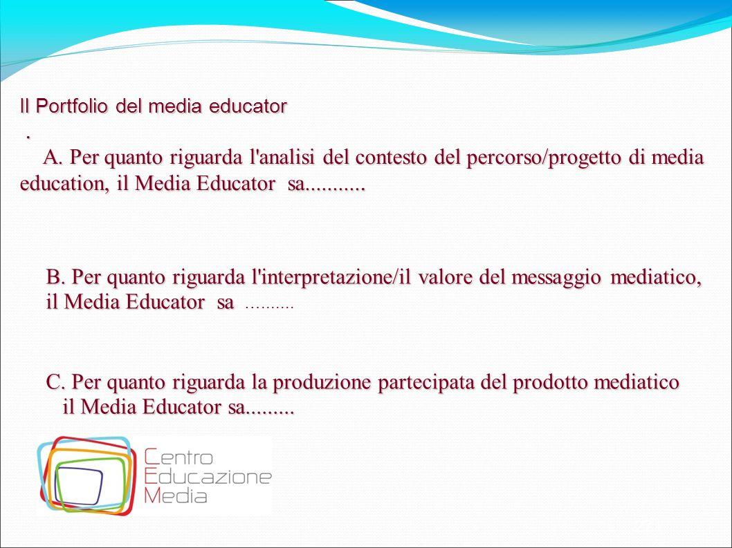 Il Portfolio del media educator