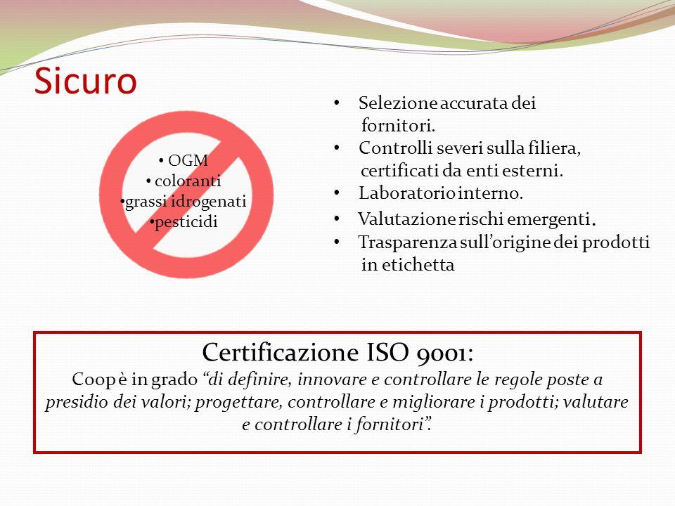 Sicuro Certificazione ISO 9001: Selezione accurata dei fornitori.