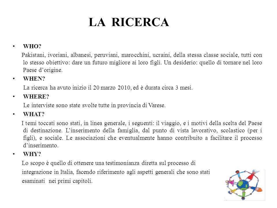LA RICERCA WHO