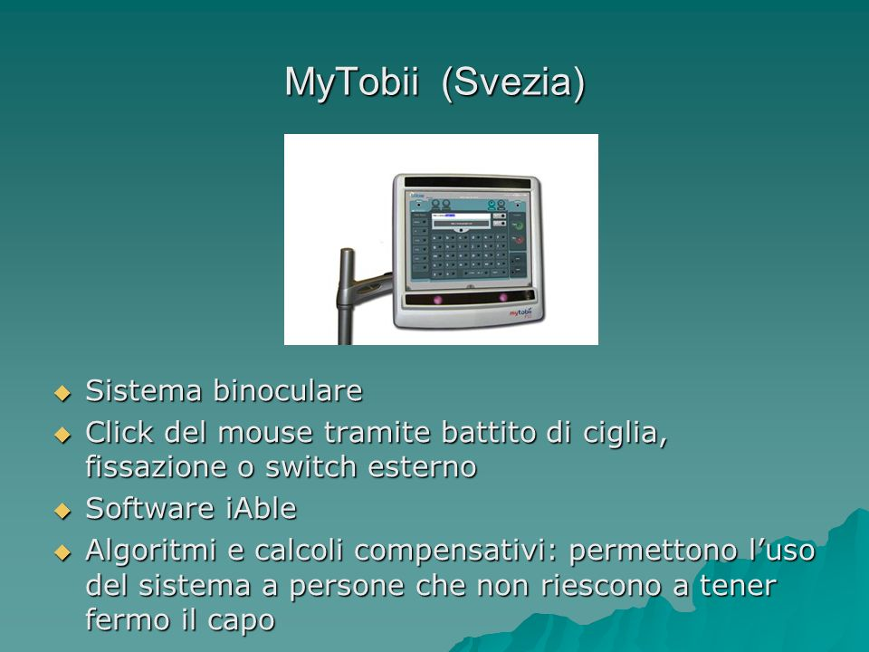 MyTobii (Svezia) Sistema binoculare