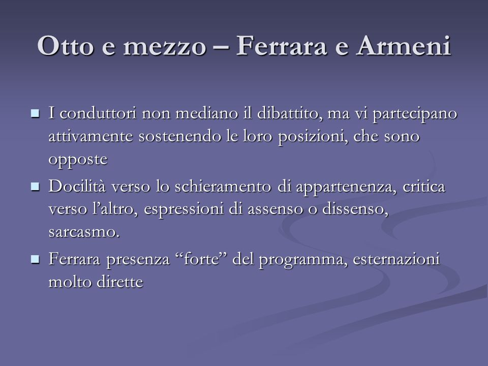 Otto e mezzo – Ferrara e Armeni