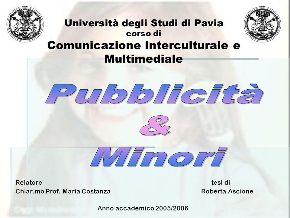 Università degli Studi di Pavia corso di Comunicazione Interculturale e Multimediale