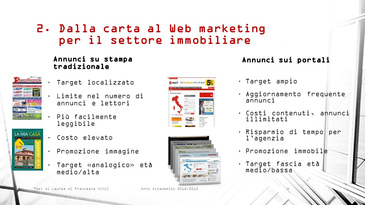 Dalla carta al Web marketing per il settore immobiliare
