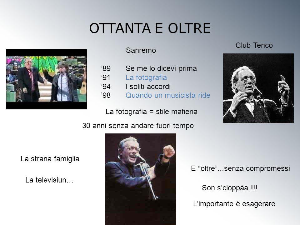 OTTANTA E OLTRE Club Tenco Sanremo '89 Se me lo dicevi prima