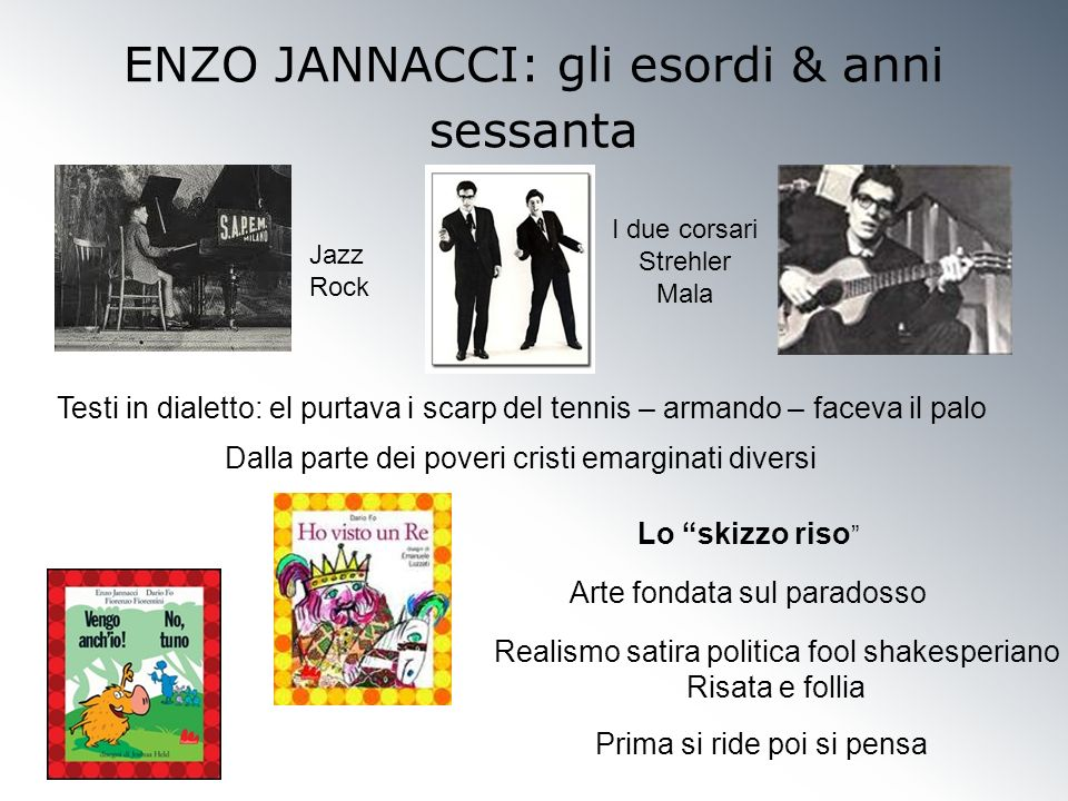 ENZO JANNACCI: gli esordi & anni sessanta