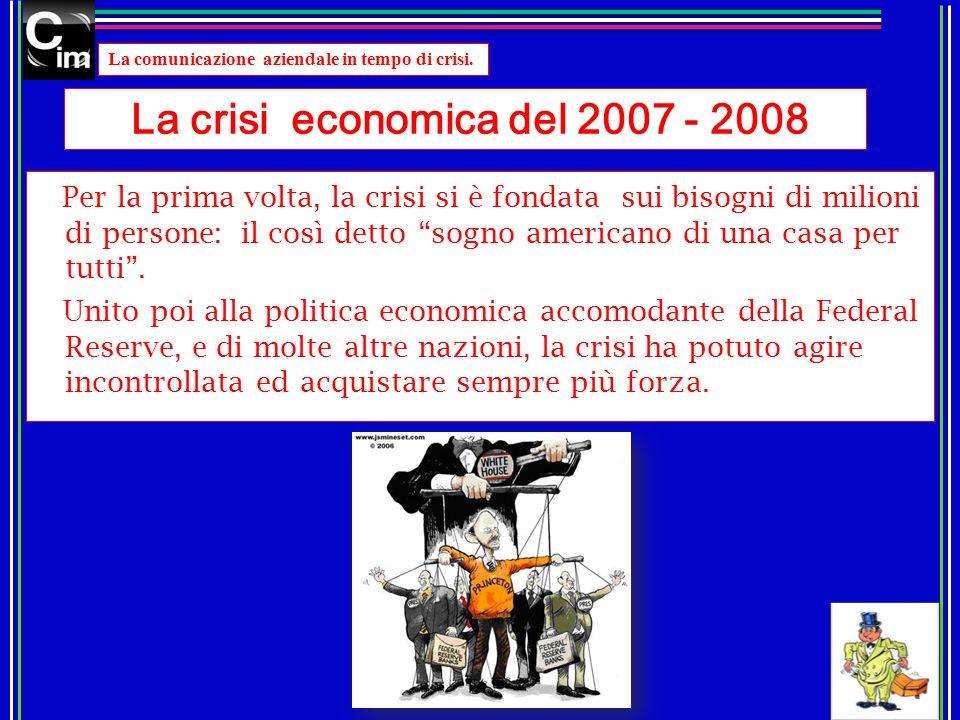 La crisi economica del 2007 - 2008
