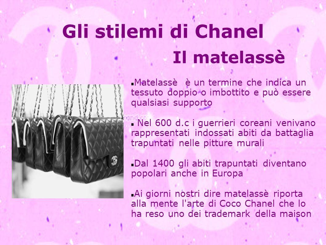 Gli stilemi di Chanel Il matelassè