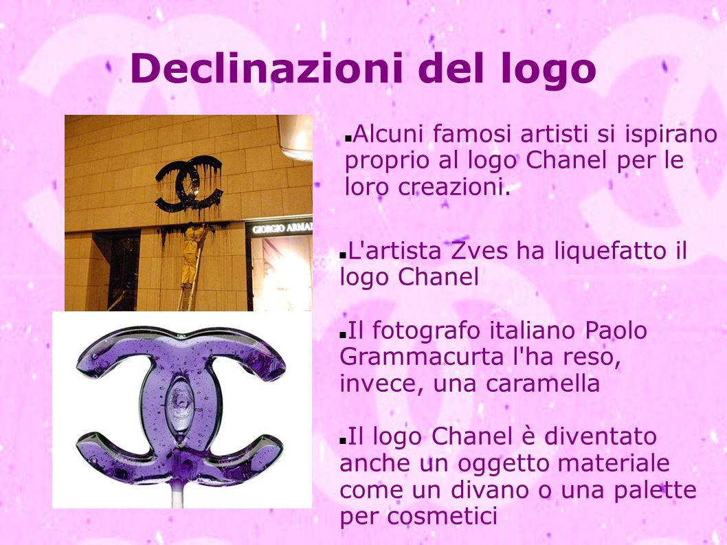 Declinazioni del logo Alcuni famosi artisti si ispirano proprio al logo Chanel per le loro creazioni.