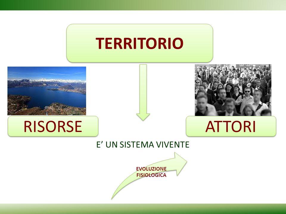 TERRITORIO E' UN SISTEMA VIVENTE RISORSE ATTORI EVOLUZIONE FISIOLOGICA