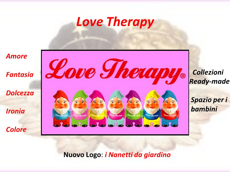 Love Therapy Amore Fantasia Collezioni Dolcezza Ready-made Ironia