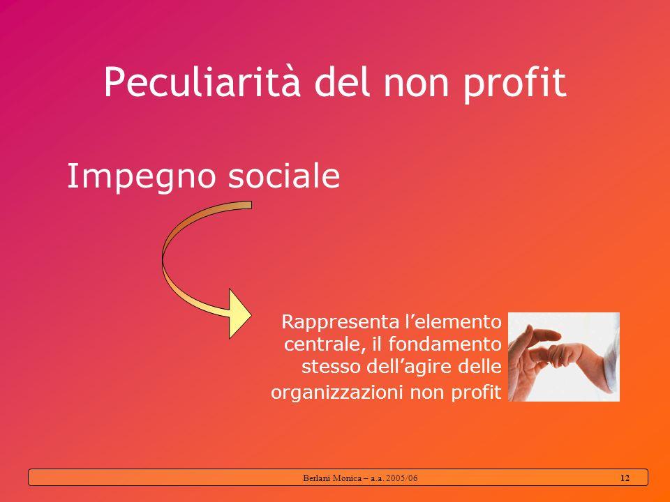 Peculiarità del non profit
