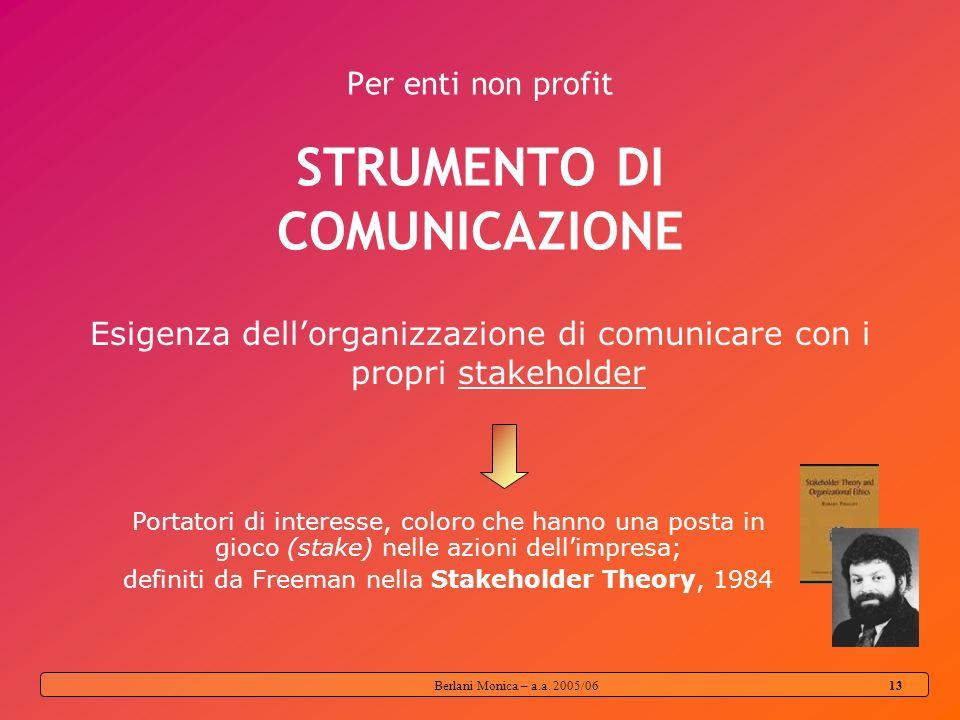 Per enti non profit STRUMENTO DI COMUNICAZIONE