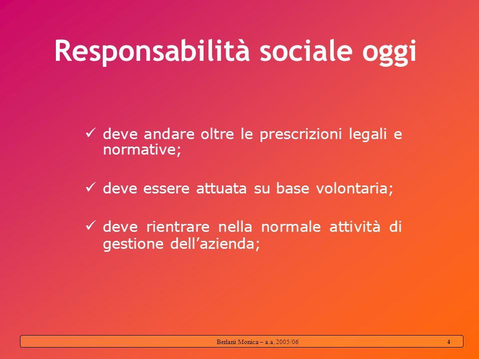 Responsabilità sociale oggi