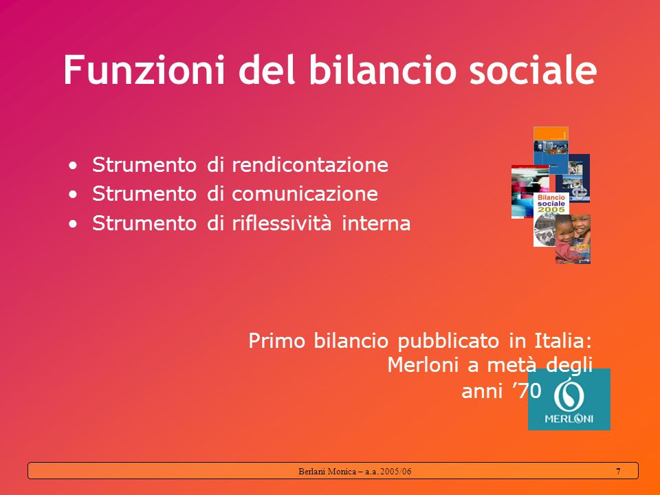 Funzioni del bilancio sociale