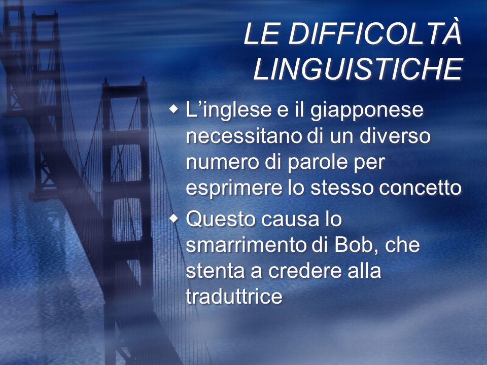 LE DIFFICOLTÀ LINGUISTICHE