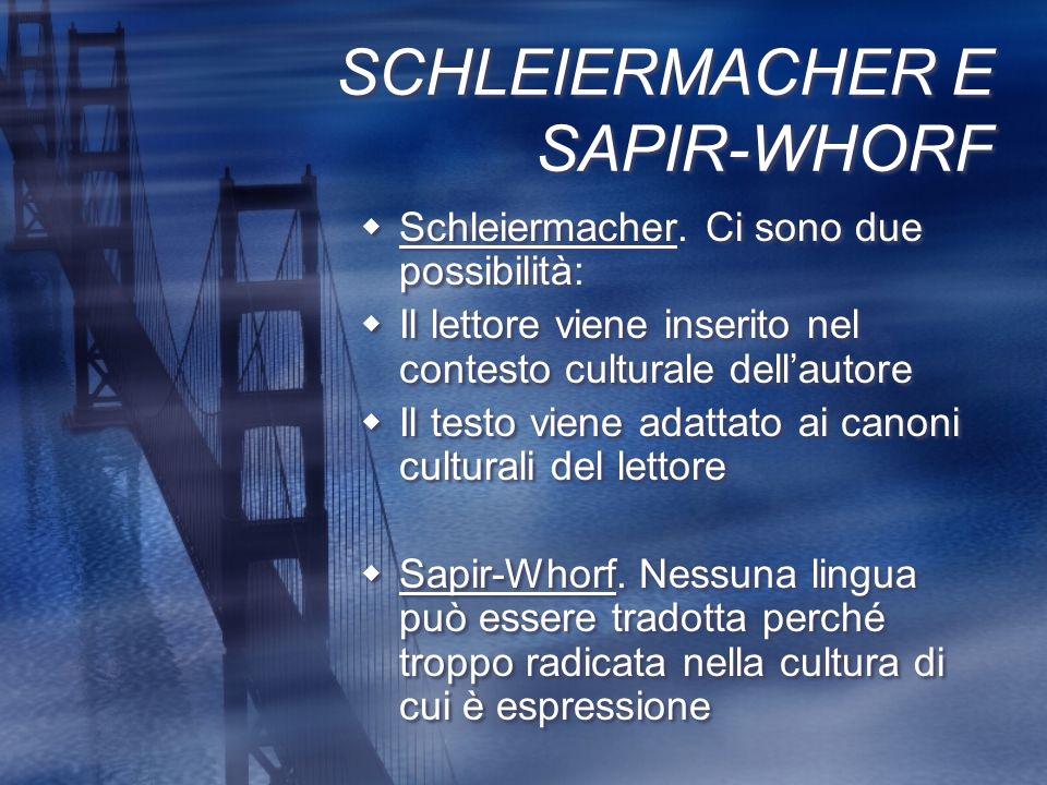 SCHLEIERMACHER E SAPIR-WHORF