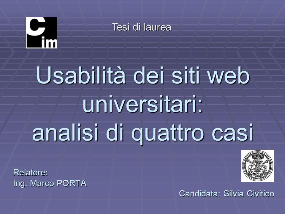 Usabilità dei siti web universitari: analisi di quattro casi