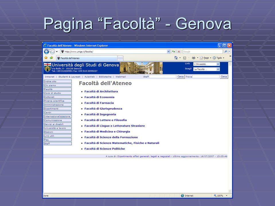Pagina Facoltà - Genova