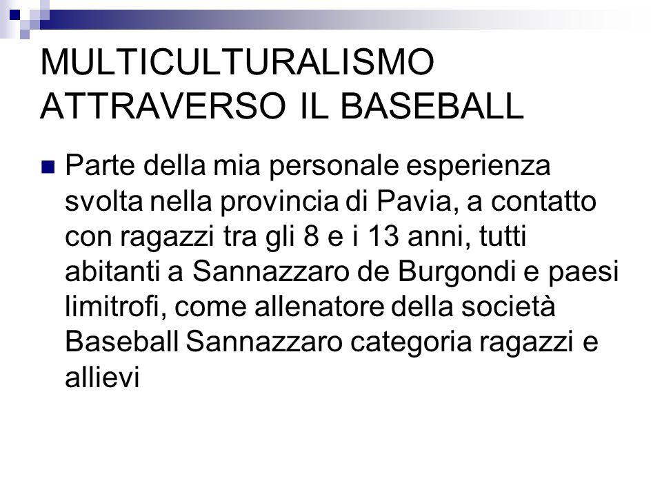 MULTICULTURALISMO ATTRAVERSO IL BASEBALL