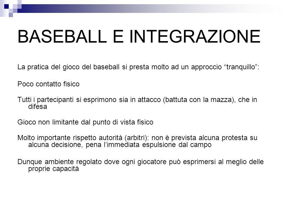 BASEBALL E INTEGRAZIONE