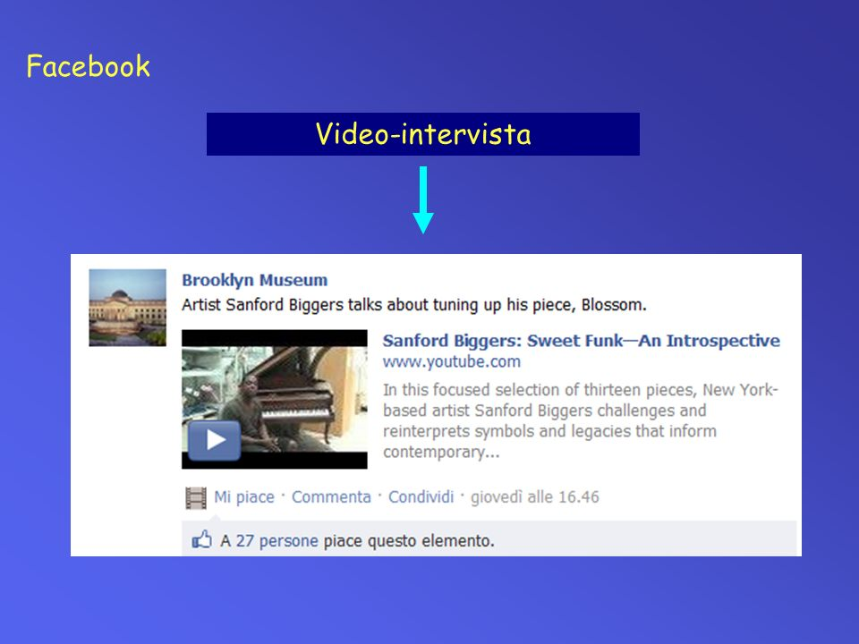 Facebook Video-intervista