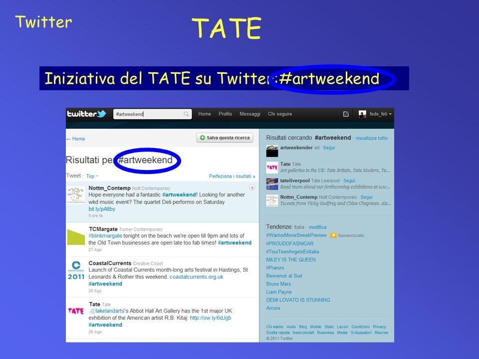 Twitter TATE Iniziativa del TATE su Twitter:#artweekend