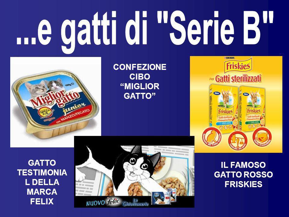 ...e gatti di Serie B CONFEZIONE CIBO MIGLIOR GATTO