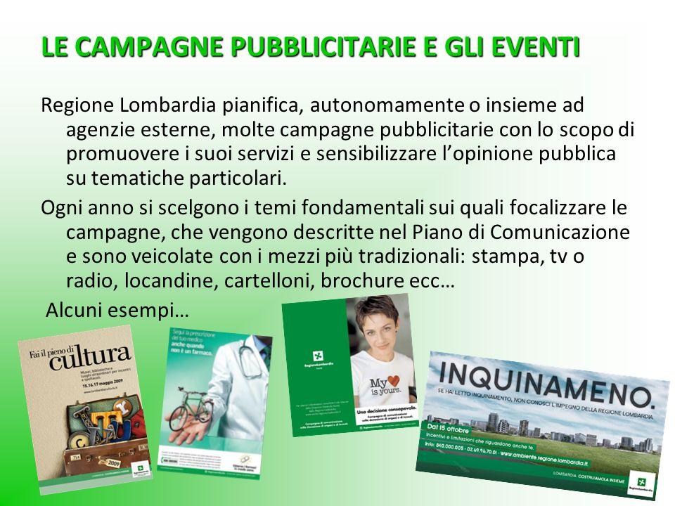 LE CAMPAGNE PUBBLICITARIE E GLI EVENTI