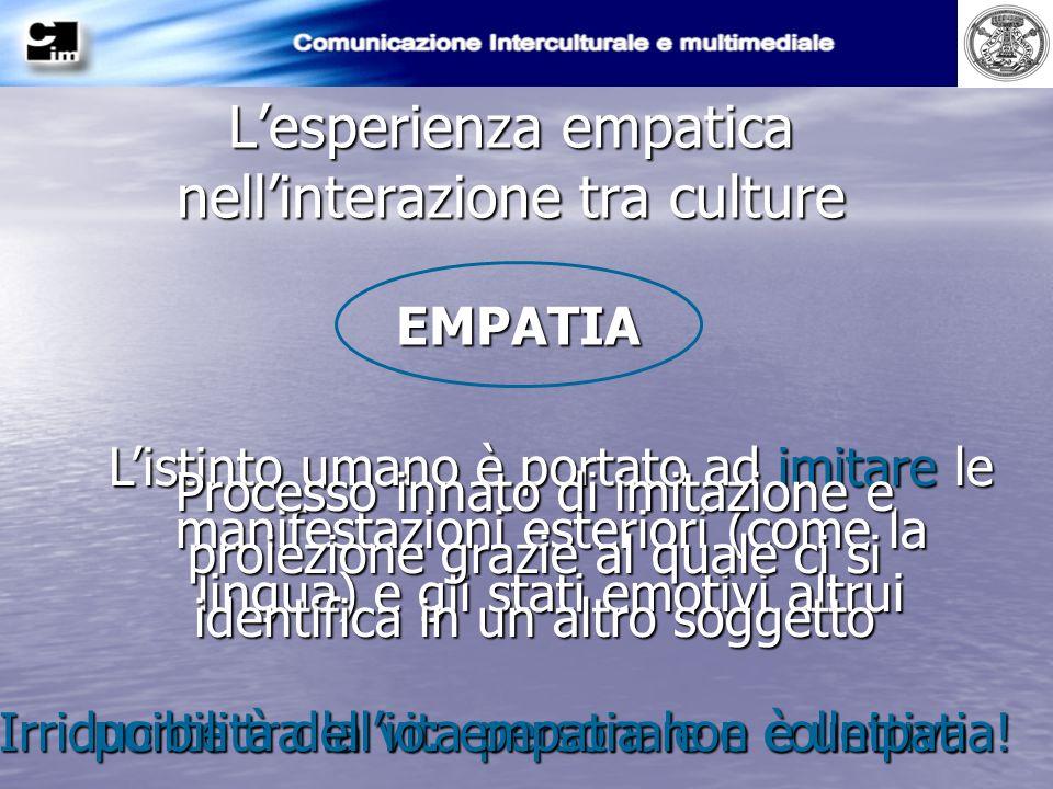 L'esperienza empatica nell'interazione tra culture