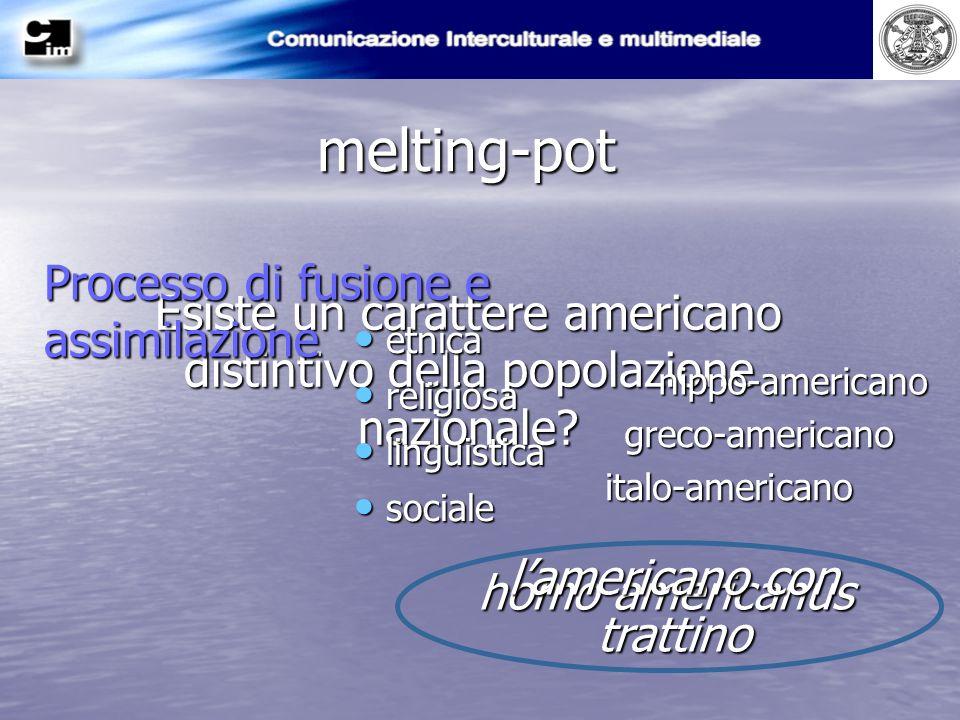melting-pot Processo di fusione e assimilazione