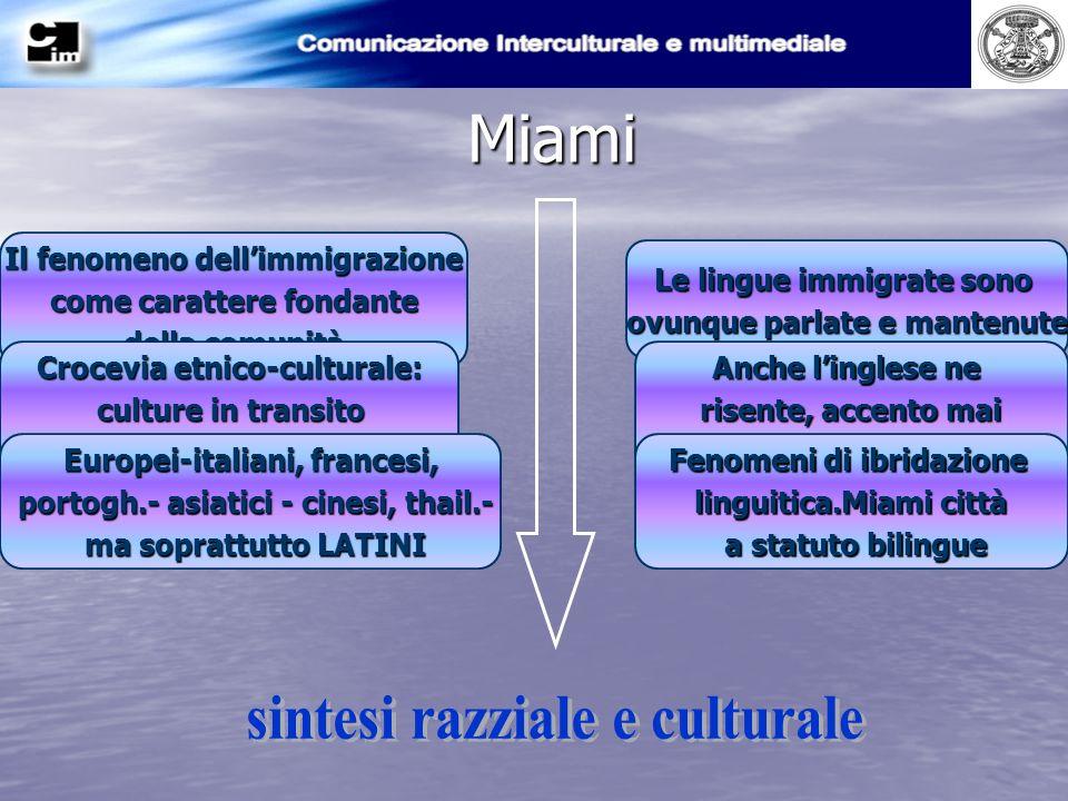 Miami sintesi razziale e culturale Il fenomeno dell'immigrazione