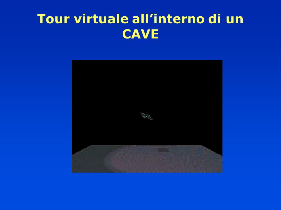 Tour virtuale all'interno di un CAVE