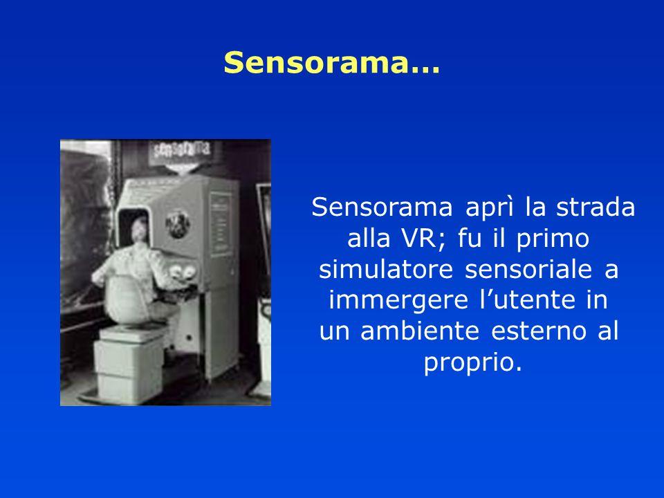 Sensorama… Sensorama aprì la strada alla VR; fu il primo