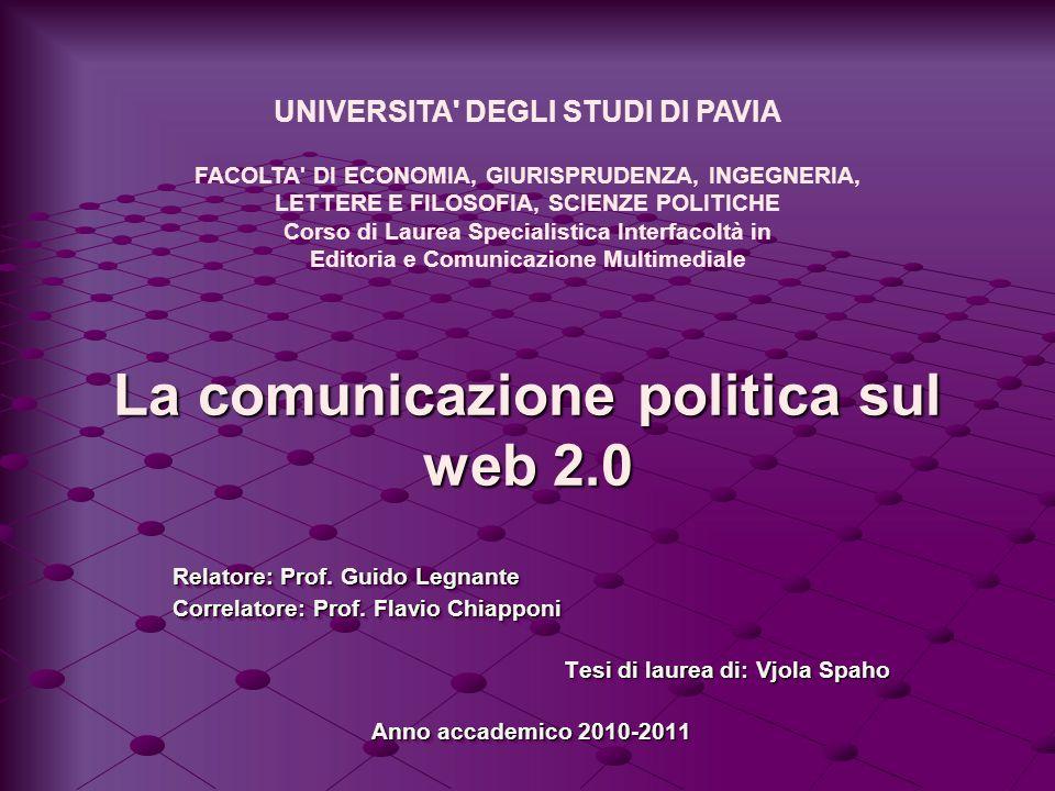 La comunicazione politica sul web 2.0