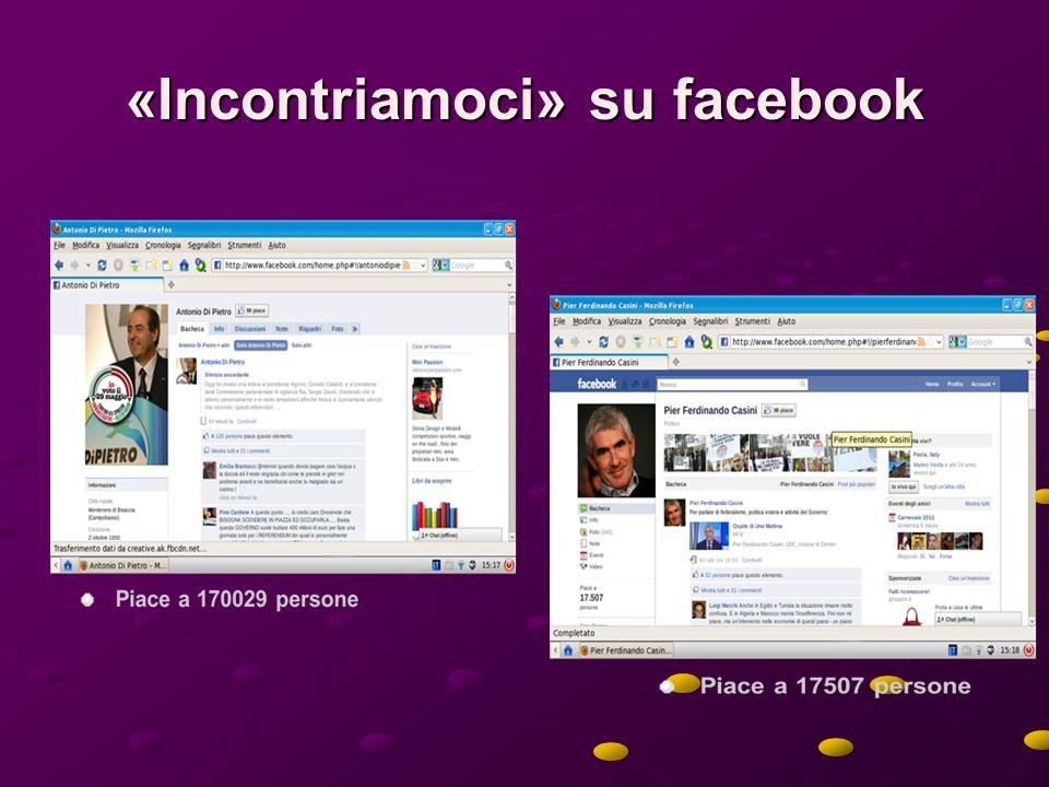 «Incontriamoci» su facebook