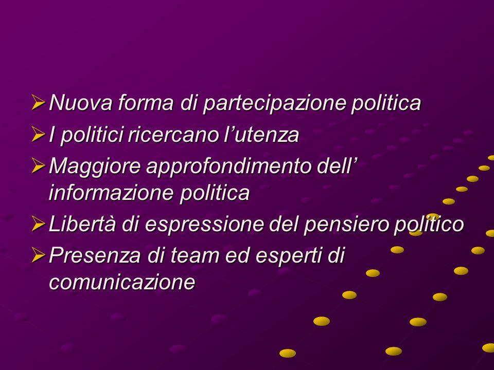 Nuova forma di partecipazione politica