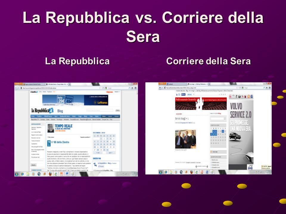 La Repubblica vs. Corriere della Sera