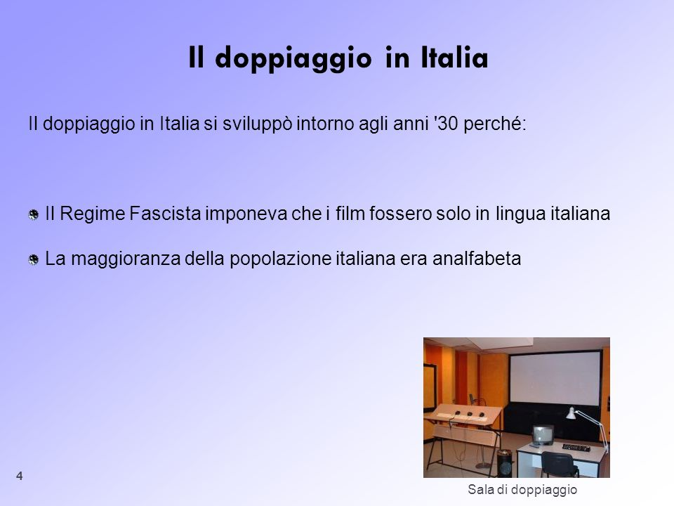 Il doppiaggio in Italia