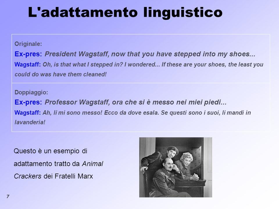 L adattamento linguistico
