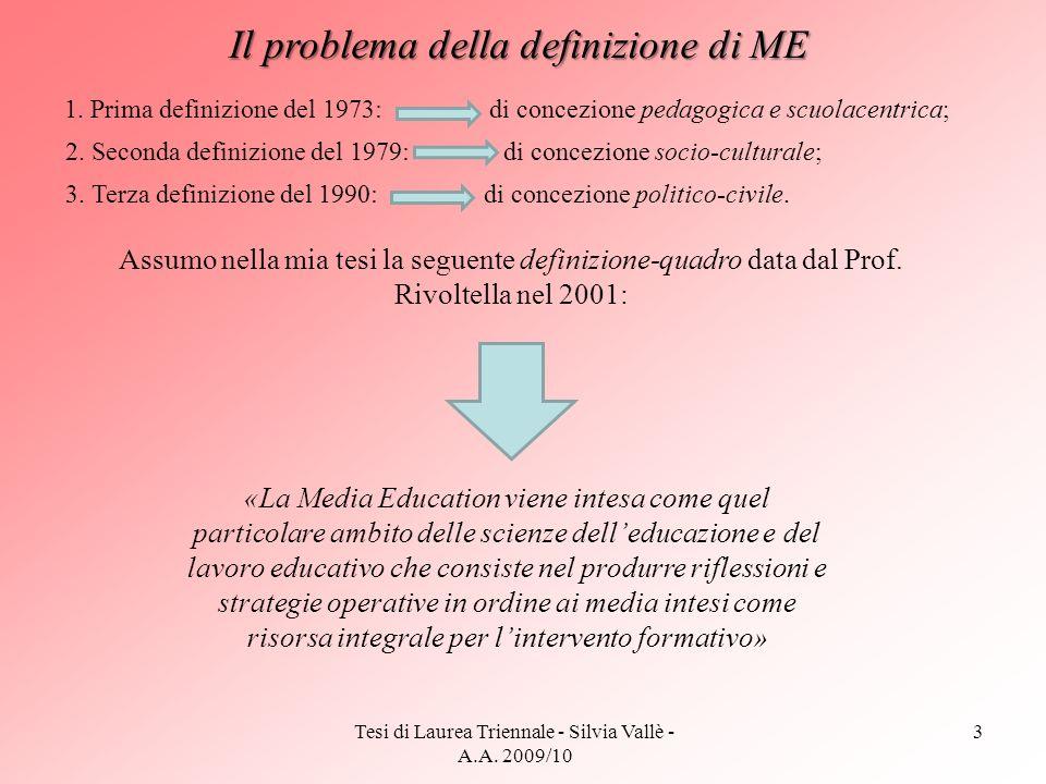 Il problema della definizione di ME
