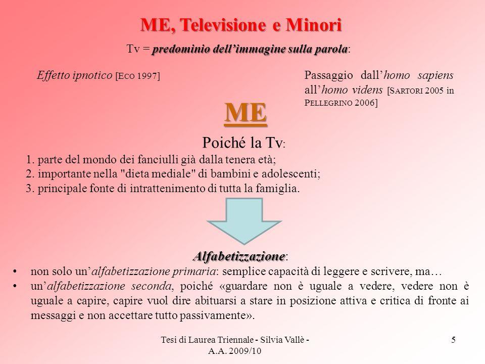 ME, Televisione e Minori