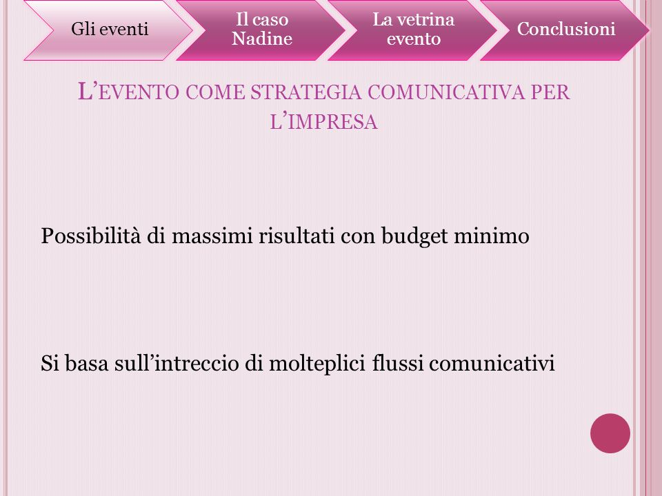 L'evento come strategia comunicativa per l'impresa