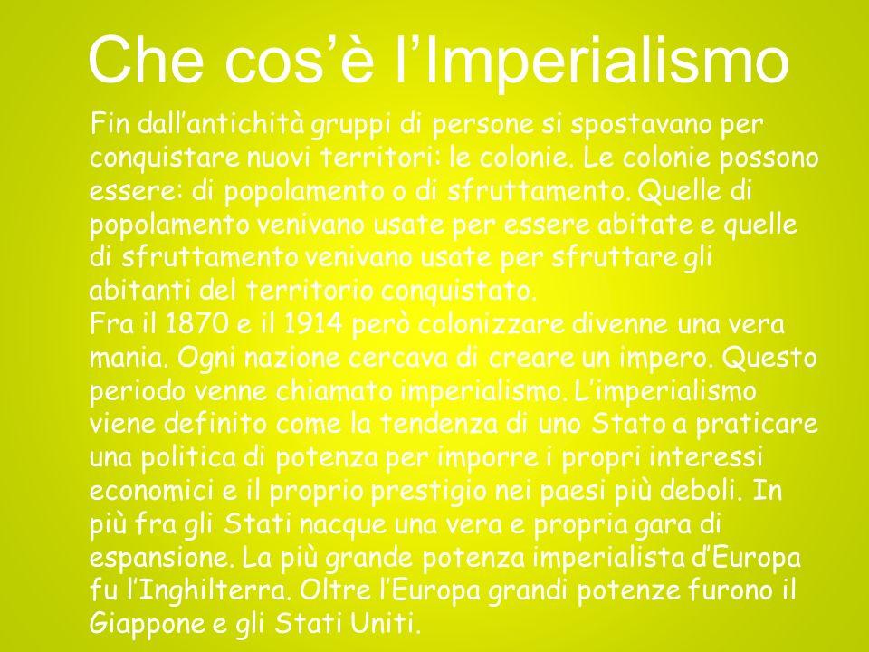 Che cos'è l'Imperialismo
