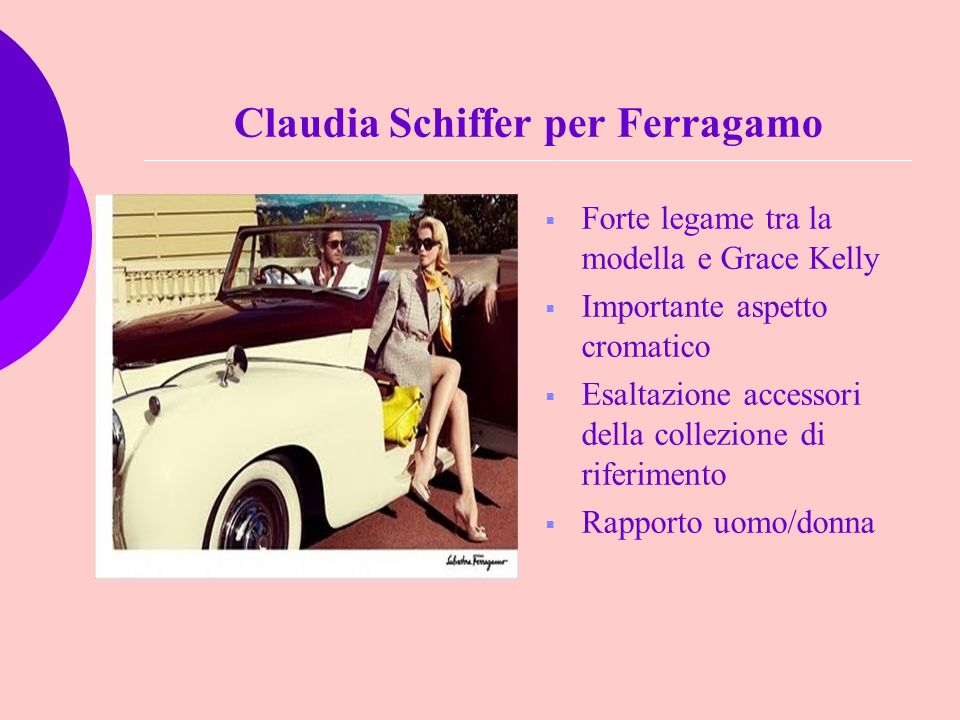 Claudia Schiffer per Ferragamo