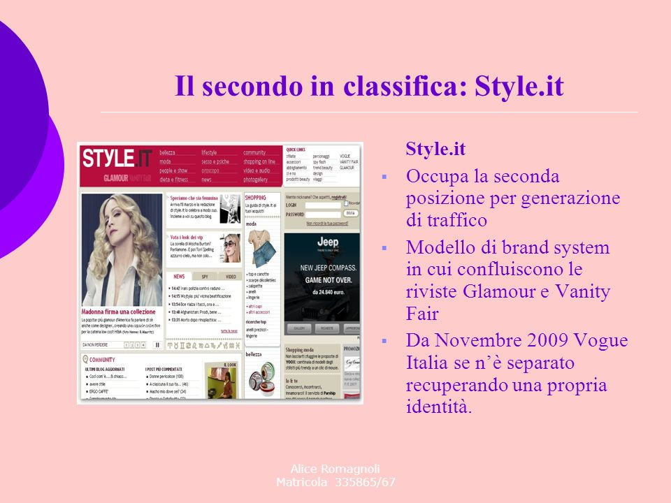 Il secondo in classifica: Style.it