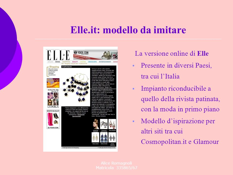 Elle.it: modello da imitare