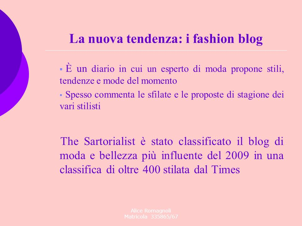 La nuova tendenza: i fashion blog
